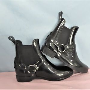 Black Tricia Ankle Boots By Ralph Lauren